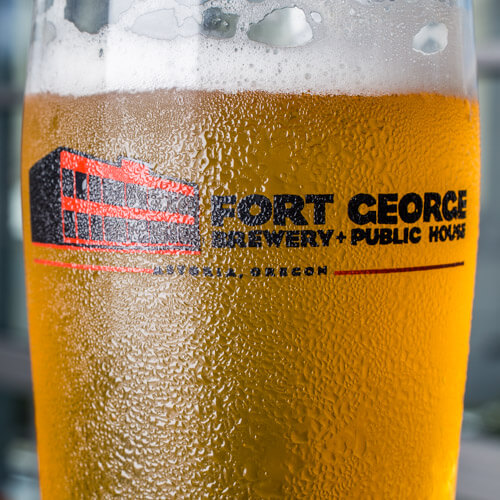 image of a frosty pint of Fort George beer