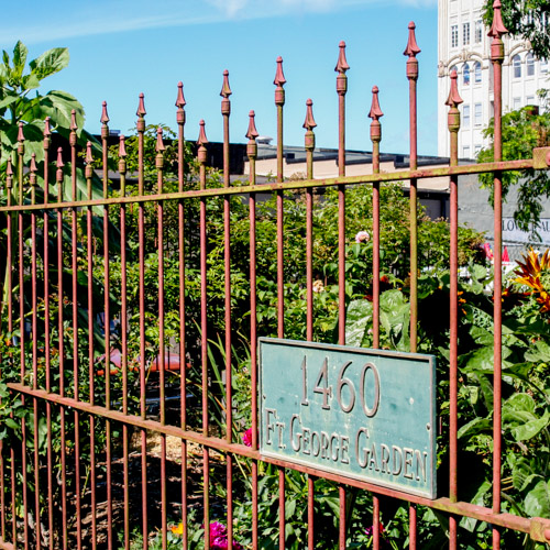 Image of the Fort George Garden gate