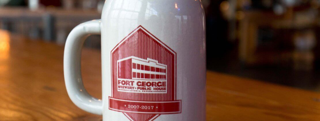 Image of the Fort George 10 year anniversary mug club mug