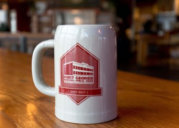 Image of the Fort George 10 year anniversary mug club mug
