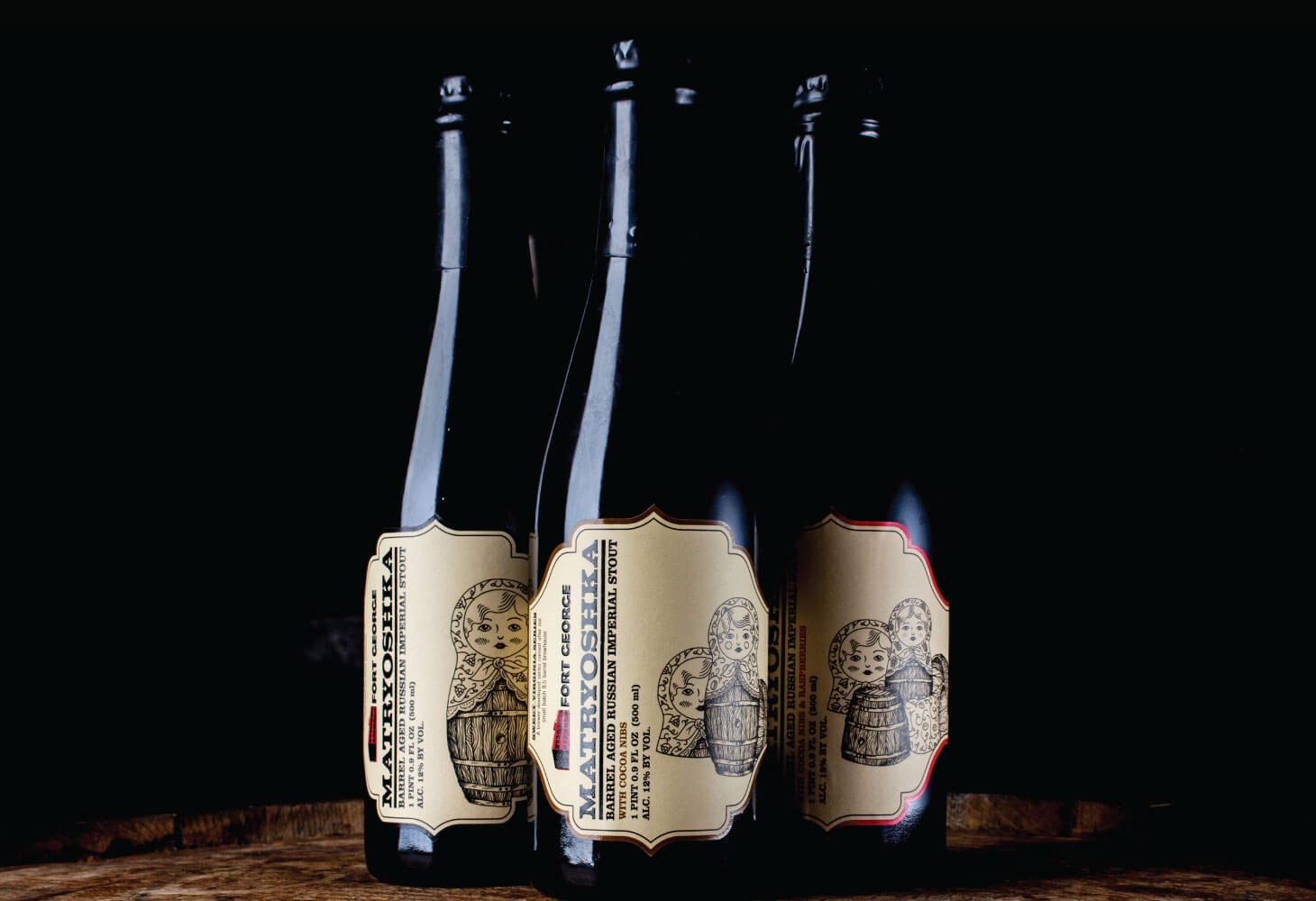 Image of Matryoshka Bourbon Barrel Aged Russian Imperial Stout from Fort George Brewery's Sweet Virginia Series