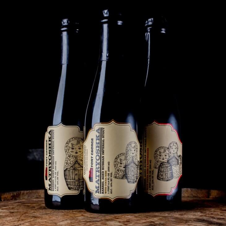 image of Matryoshka- Bourbon Barrel Aged Russian Imperial Stout from Fort George Brewery's Sweet Virginia Series.