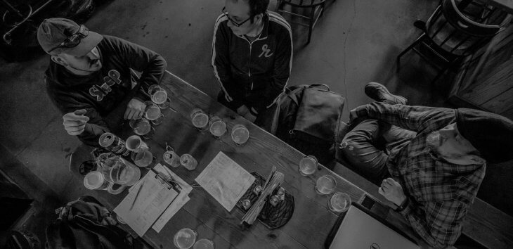 Image of brewers meeting about 3-Way IPA