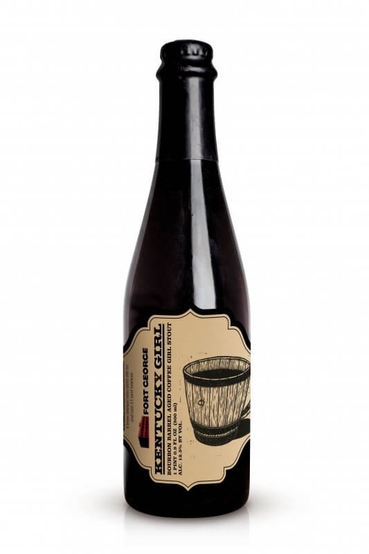 Image of Kentucky Girl- Bourbon Barrel Aged Coffee Girl Stout. From Fort George Brewery's Sweet Virginia Series.