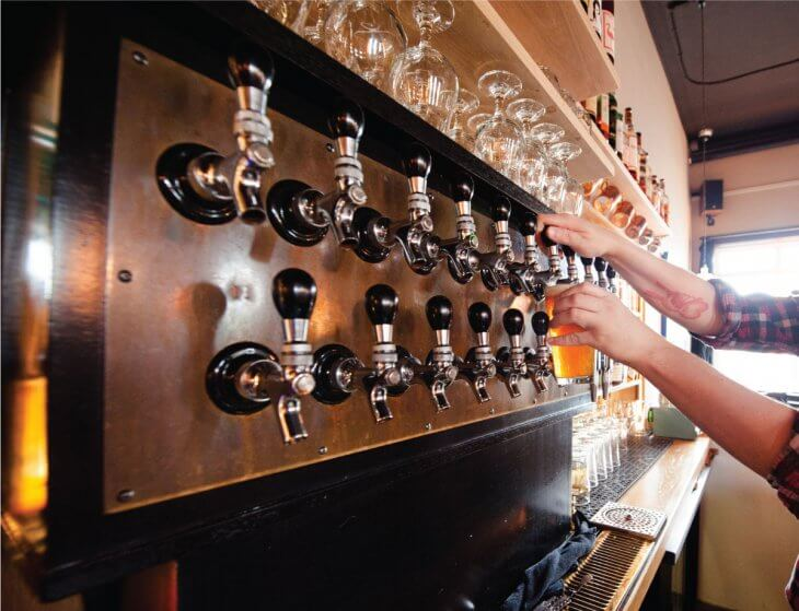 image of beer being poured at Alberta St. Pub in Portland, Oregon
